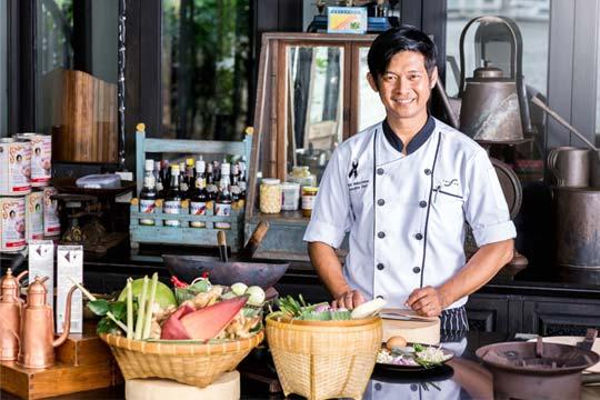 Chef Damri Muksombat at The Siam